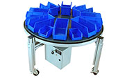 Carousel Conveyor AC 3900 - 8Akro-8Akro Bins -- Click for full size
